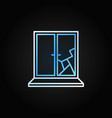 broken window creative icon in outline vector image vector image
