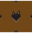 Brown Fox Chocolate Brown Background vector image vector image