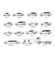 car type icon set vector image vector image