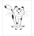 Cartoon cat black outline