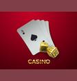 casino or gambling concept vector image