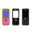 cellular mobile phone vector image vector image