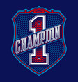 champion badge vector image