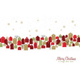 christmas and new year winter town greeting card vector image