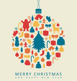 christmas greeting card with merry christmas and vector image vector image