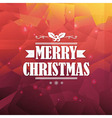 Christmas Triangle Background vector image vector image