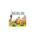 city street berlin travel poster vector image