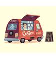 Coffee van vector image vector image
