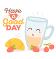 colorful red blue and yellow breakfast t vector image