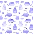 cute funny seamless pattern with cats vector image vector image