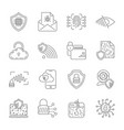 data protection and cyber security thin line icons vector image vector image