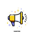 digital media marketing icon with megaphone vector image vector image