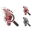 disintegrating pixel halftone trace detective icon vector image vector image
