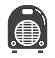 electric fan heater solid icon household vector image vector image