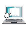 electronic book technology icon vector image vector image
