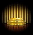 empty stage with golden spotlight background vector image vector image