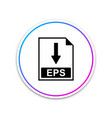 eps file document icon download eps button icon vector image vector image