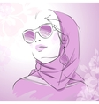 Fashion gorgeous woman portrait vector image