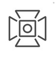 film production camcorder hood icon design vector image