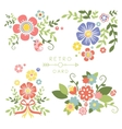 Floral Vintage Elements for Cards and Decor vector image vector image