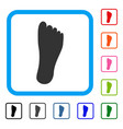 foot framed icon vector image vector image