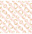 gold heart seamless pattern white-pink geometric vector image