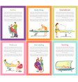 hair styling tanning process posters text vector image vector image