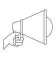 hand with bullhorn vector image