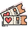 honeymoon tickets linecolor vector image vector image