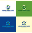house and check mark logo and icon vector image vector image
