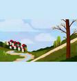 idyllic rural landscape vector image