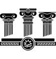 Ionic columns and pattern stencil vector | Price: 1 Credit (USD $1)
