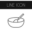 isolated cooking outline bowl element can vector image