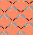 kitchen knife seamless pattern steel sharp dagger vector image vector image
