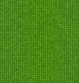 Knitted seamless green background vector image