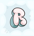 letter r bubble vector image vector image