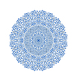 Mandala pattern blue background vector image vector image