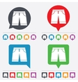 Mens Bermuda shorts sign icon Clothing symbol vector image