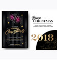 merry christmas greeting card template elegant vector image vector image