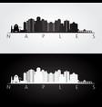 naples usa skyline and landmarks silhouette vector image vector image