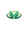 oval leaf eco nature logo vector image vector image