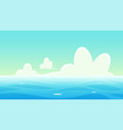 panoramic nautical landscape background vector image