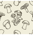 pattern with artistically drawn mushrooms vector image vector image