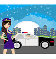 police patrol at night vector image vector image