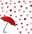 rain heart with umbrella vector image vector image