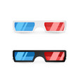 realistic 3d white and black glasses front view vector image