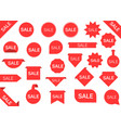 red sale labels vector image