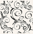 repetitive floral curls background vector image vector image
