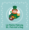 saint patrick s day party flyer leprechaun with a vector image vector image