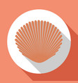 seashell flat icon light pink color with long vector image vector image